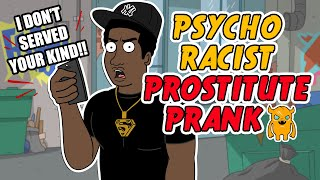 getlinkyoutube.com-Psycho Racist Prostitute Prank - Ownage Pranks