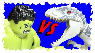 getlinkyoutube.com-LEGO Jurassic World - Indominus Rex Angers Hulk