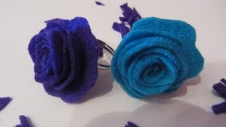 getlinkyoutube.com-Cómo hacer un anillo con rosa. How to make a ring whit rose.