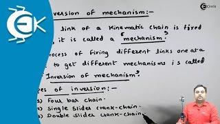 Learn Online | Inversion of Mechanism  | Fundamentals & Types of Mechanisms  | Ekeeda.com