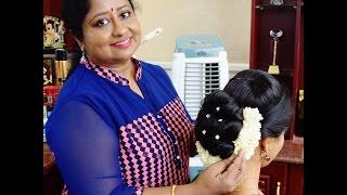 getlinkyoutube.com-Traditional Kerala Hairstyle (Full Tutorial)