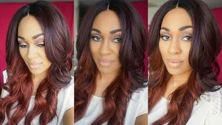 getlinkyoutube.com-Freetress Equal Brazilian Natural Lacefront Wig Danity