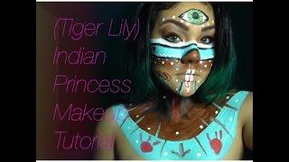 getlinkyoutube.com-*Inspired* Tiger Lily/Native American Princess Makeup Tutorial