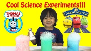getlinkyoutube.com-Thomas & Friends Trains Science Experiment for Kids , elephant toothpaste, baking soda and vinegar