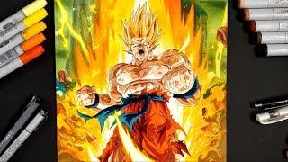 Drawing Super Saiyan Rage GOKU! 100K SUBS SPECIAL!!