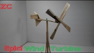 getlinkyoutube.com-How To Make A Wind Turbine Out Of Popsicle Sticks