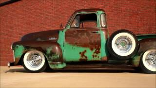 "getlinkyoutube.com-""Bootleg Bill""  Slammed 1953 Chevrolet Hot Rat Street Rod Patina Shop Truck, FOR SALE"