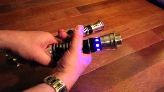 getlinkyoutube.com-Ultra Sabers Archon V2 and Overlord Lightsaber Review