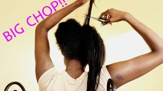 getlinkyoutube.com-FINALLY NATURAL!!! BIG CHOP on Relaxed/Transitioned Hair!