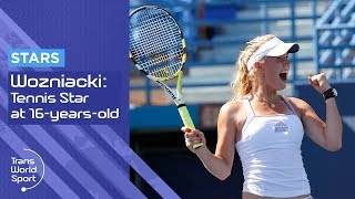 getlinkyoutube.com-16-year-old Caroline Wozniacki on Trans World Sport