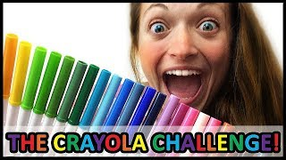 getlinkyoutube.com-THE CRAYOLA MARKER CHALLENGE! (this is intense).