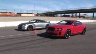 getlinkyoutube.com-When Worlds Collide: Nissan GT-R Vs Bentley Continental Supe