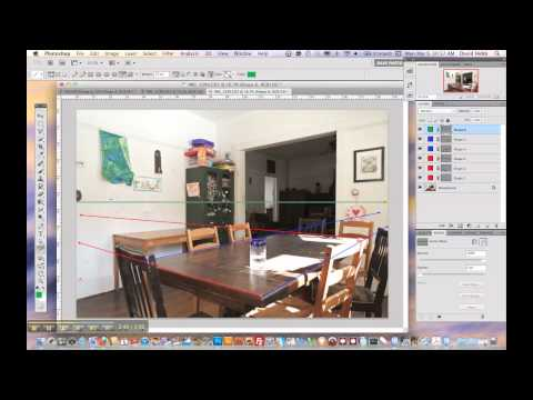 Two-point perspective mark-up in Photoshop