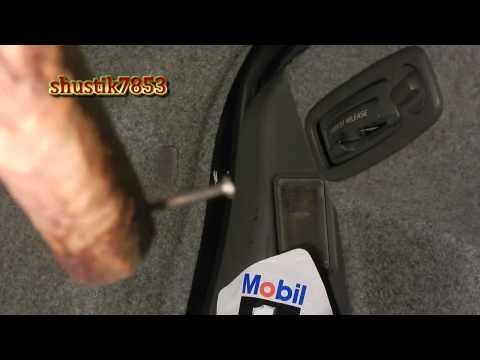 Смотреть внимательно Volvo how to open the trunk , как открыть случайно закрытый багажник вольво