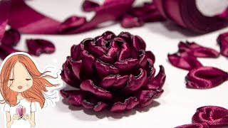 getlinkyoutube.com-Цветы из атласных лент | Kulikova Anastasia