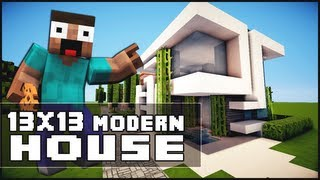 getlinkyoutube.com-Minecraft House Tutorial: 13x13 Modern House