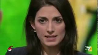 Sindaca Roma Virginia Raggi (M5S) a Dimartedì (INTEGRALE) 17/1/2017