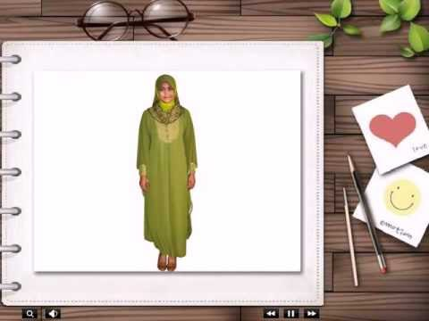 Jubah Muslimah Chiffon Ros