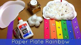 getlinkyoutube.com-Paper Plate Rainbow Preschool and Kindergarten Craft Project