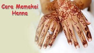 getlinkyoutube.com-Cara Memakai Henna Dengan Stiker Cetakan Tangan
