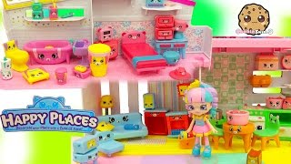 getlinkyoutube.com-All 4 Shopkins Petkins Decorator's Packs with Blind Bags In Rainbow Kate's Happy Places Home