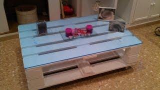 getlinkyoutube.com-Como hacer una mesa con palets (how to do a table with pallet)