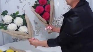 getlinkyoutube.com-Aula 11 - Como fazer arranjos com flores de papel crepom - Artesanato
