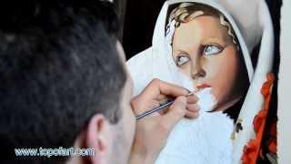 getlinkyoutube.com-Art Reproduction (Tamara de Lempicka - The Polish Girl) Hand-Painted Oil Painting
