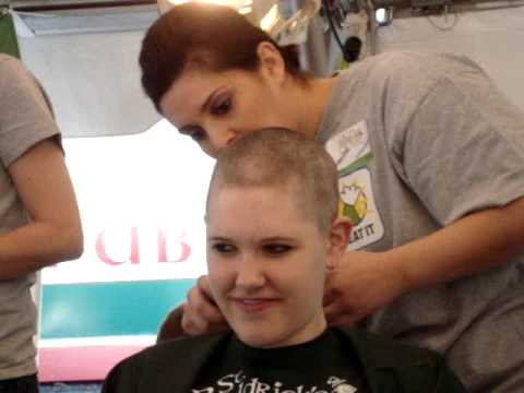 Female Shavee Charity Headshave - St Baldrick's -  - Hibernian Restaurant & Pub, NC - March 5, 2011