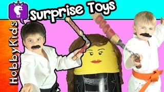 getlinkyoutube.com-HobbyKarate Surprise Trixie Punching Bag Funko Minecraft Blind Box By HobbyKidsTV