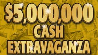 getlinkyoutube.com-Huge Winner! $5,000,000 Cash Extravaganza Instant Lottery Scratch Off Ticket #10