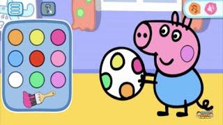 getlinkyoutube.com-Peppa Pig Mini Games Part 1 - best app demos for kids - Philip