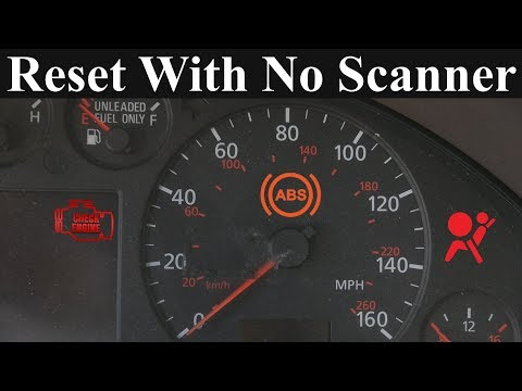 How to Reset the Check Engine, ABS and Airbag Light - Without a Scanner