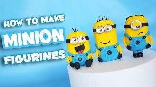 getlinkyoutube.com-How to make Minion fondant cake topper figurine tutorial - TheCakingGirl