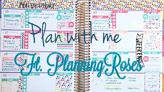 getlinkyoutube.com-Plan With Me | Horizontal Erin Condren | Ft  PlanningRoses