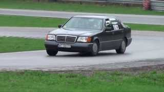 getlinkyoutube.com-Mercedes 500 SEL - ClassicAuto Track Day Cup 1 Runda - Tor Kielce 04-05-2013