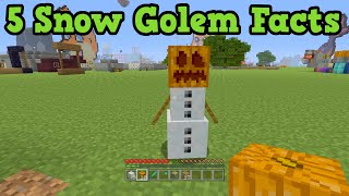 getlinkyoutube.com-Minecraft - 5 Things You Didn't Know About Snow Golems