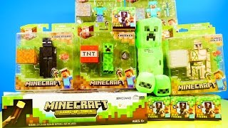 getlinkyoutube.com-Minecraft Toys Super Unboxing Giant Light Up Torch Blind Box Grass Series 1 By Disney Cars Toy Club