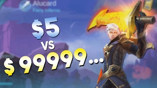 getlinkyoutube.com-Mobile Legends $5 Skin vs $9999...Skin