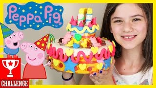 getlinkyoutube.com-PEPPA PIG'S BIRTHDAY CAKE PLAY DOH CHALLENGE!  |  KITTIESMAMA