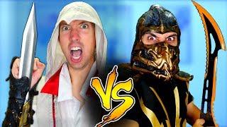 Mortal Kombat Vs Assassin's Creed   Epic Weapon Battle Challenge