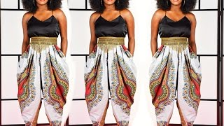 getlinkyoutube.com-Cowl Pants Tutorial ●DIY stylish Pants●Harem pants•