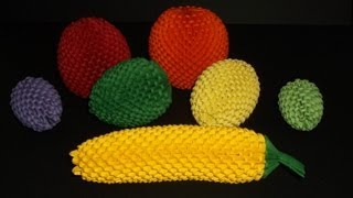 getlinkyoutube.com-How to make 3d origami banana  fruit