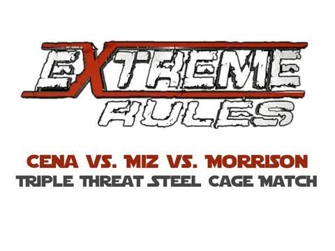 WWE Extreme Rules 2011 - Triple Threat Steel Cage Match - Cena vs. The Miz (c) vs. Morrison