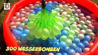 getlinkyoutube.com-300 Wasserbomben 🎈 und eine Meerjungfrau 🎈 Bunch O Balloons Demo