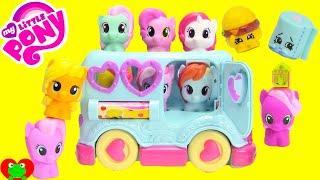 getlinkyoutube.com-My Little Pony Rainbow Dash Friendship Bus with Shopkins Season 3 Blind Bags