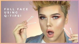 FULL FACE USING ONLY Q-TIPS CHALLENGE!