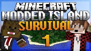 "getlinkyoutube.com-Minecraft Survival Island Mods Ep. 1 ""MEROME THE GOAT"" w/ BajanCanadian!"
