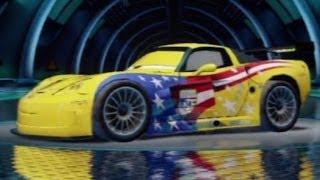 getlinkyoutube.com-CARS ALIVE ! Cars 2 Gameplay - Jeff Corvette Tokyo Airfield Race