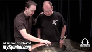 "Zildjian 22"" Rarities K Dark Thin Ride Cymbal - Played by Leon Chiapinni (K0874-1101711F)"